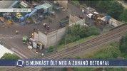 Öt munkást ölt meg a zuhanó betonfal