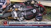 Szakadékba zuhant a motoros, meghalt