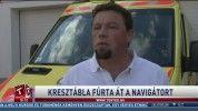 Kresztábla fúrta át a navigátort