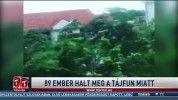 89 ember halt meg a tájfun miatt