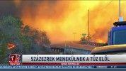 Százezrek menekülnek a tűz elől