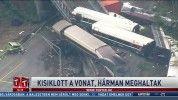 Kisiklott a vonat, hárman meghaltak
