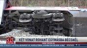 Két vonat rohant egymásba Bécsnél