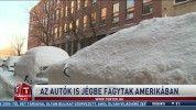 Az autók is jégbe fagytak Amerikában